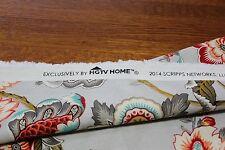 "New - Home Decor Fabric - ""HGTV - Bespoke Blossoms Mineral"" 32""L x 54""W"