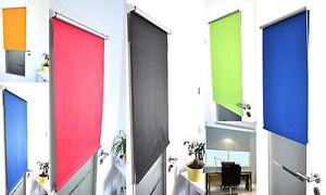 Fenster-amp-Tuer-Thermo-Verdunkelungs-Rollo-Klemm-fix-ohne-Bohren-Ketten-Seiten-zug