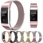 Milanais boucle métal magnétique maille Bracelet de montre pour Fitbit Charge 2