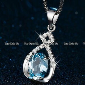 XMAS-GIFTS-FOR-HER-Necklace-Blue-Promise-Love-Present-Wife-Women-Girls-Nan-GF-B6