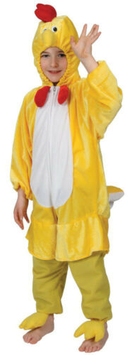 CHILDS CHICKEN COSTUME FARM ANIMAL FANCY DRESS EASTER COSTUME BOYS GIRLS OUTFIT