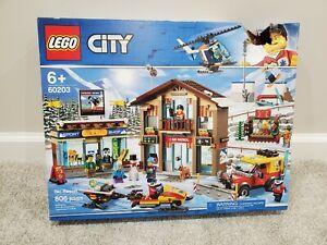 SKI PATROL RESORT 806 PIECES 60203 FACTORY SEALED BOX SET! LEGO CITY