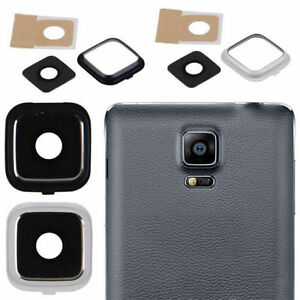 size 40 b5ee5 a5dbf Details about BLACK AND WHITE CAMERA GLASS LENS COVER FOR SAMSUNG GALAXY  NOTE 4 N910 EDGE N915