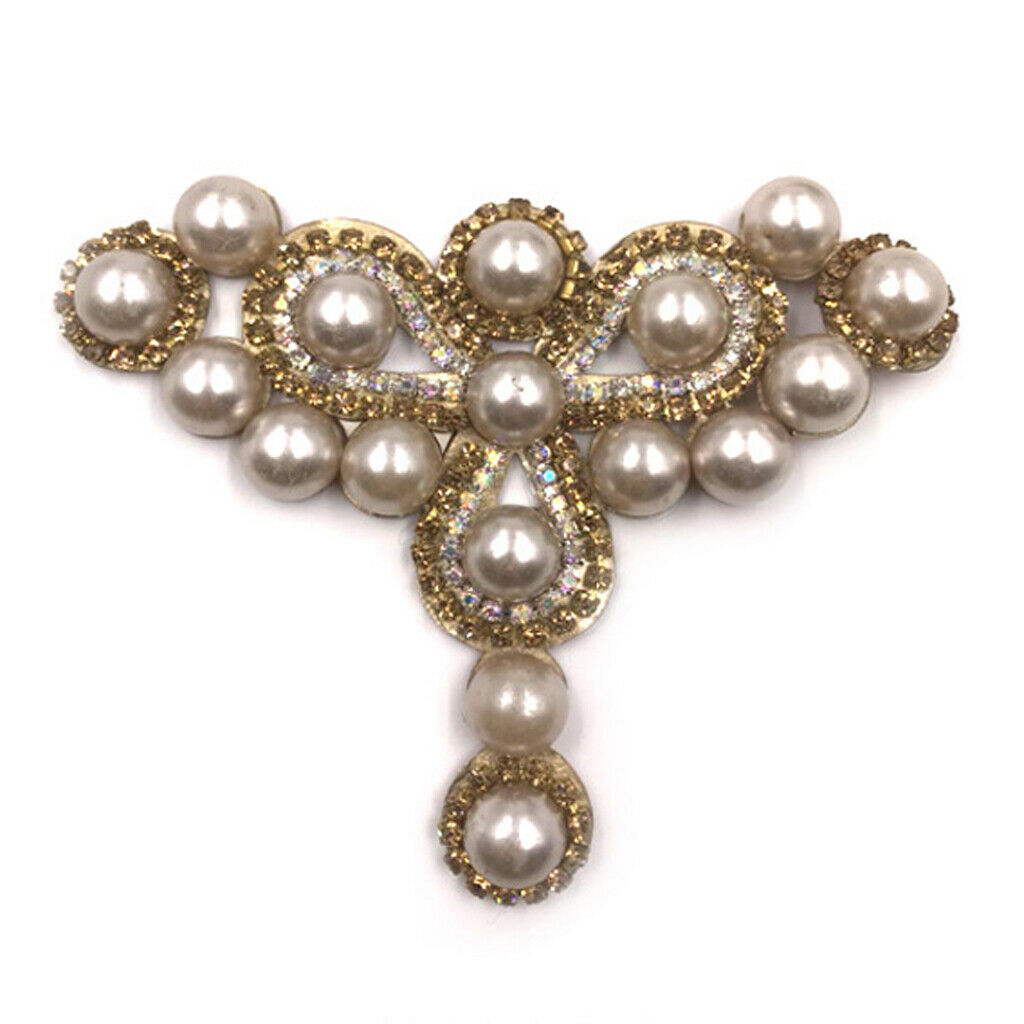 2 Pieces Crystal High Heel Shoe Clips Charm Faux Pearl Shoe Buckle Decor