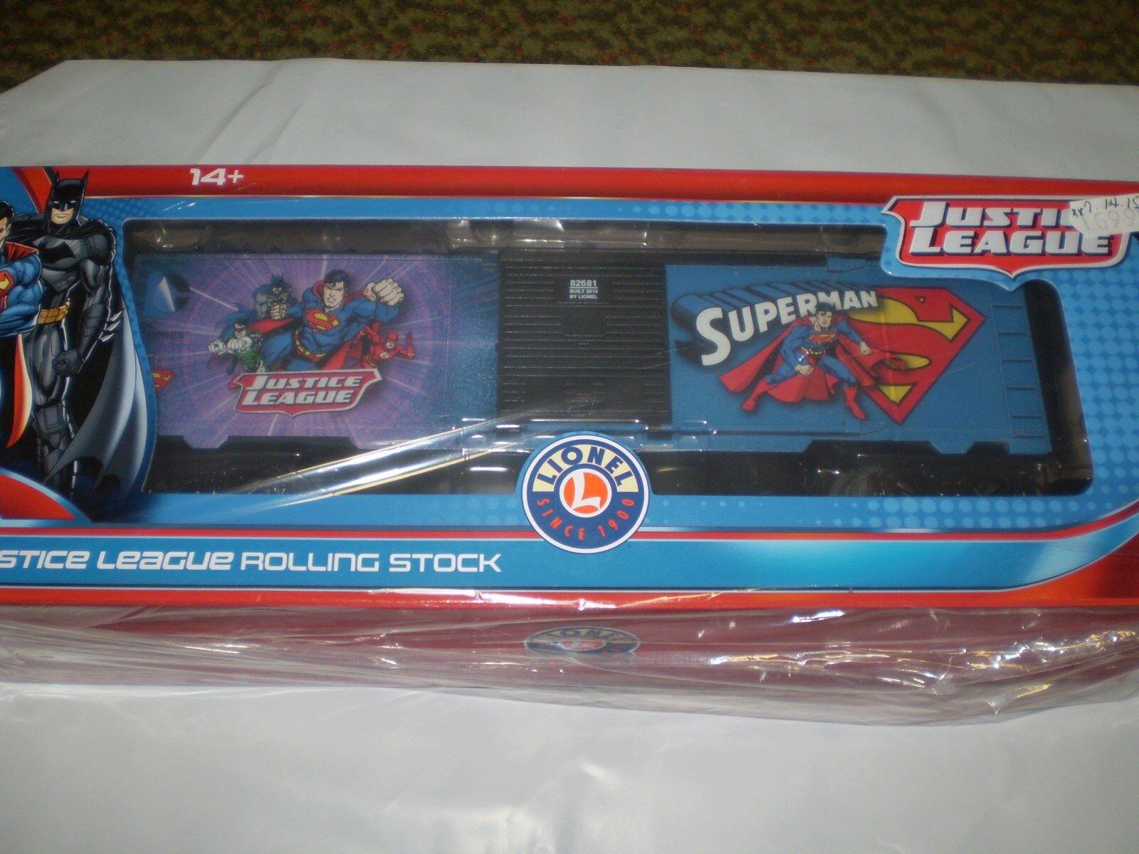 Lionel 6-82681 Justice League súperman Furgón material rodante Nueva Nueva En Caja