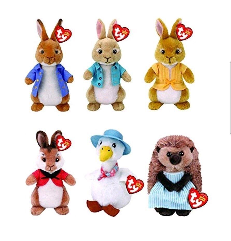 Ty Peter Rabbit Plush 2018 Range - Brand New - Peter Rabbit & Friends