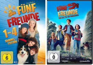5 DVDs * FÜNF FREUNDE - DVD/FILM 1 + 2 + 3 + 4 + 5 (1-4+5) IM SET # NEU OVP +