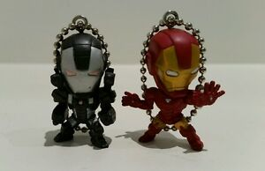 Marvel-Set-of-2-Ironman-amp-War-Machine-Keyring-Keychain-Charm-New-Without-Tags