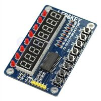 LED Tube 8-Bit TM1638 Key Display Module For AVR Arduino New 1pc 8-Bit Digital