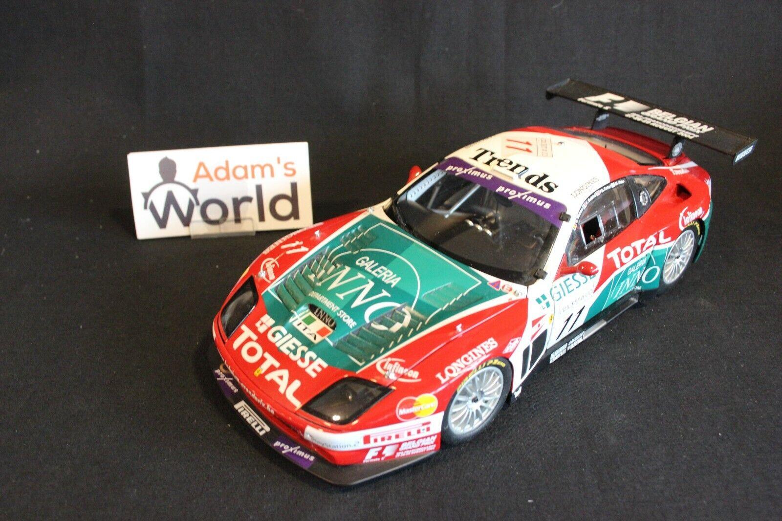 Kyosho Ferrari 575 GTC 2004 1 18  11 Peter   Babini   Salo   Vosse Spa (PJBB)
