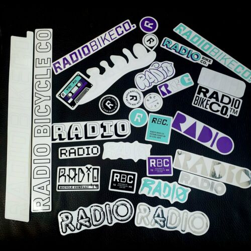 Radio Assorted 15 Piece BMX Sticker Pack