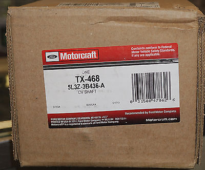 GENUINE OEM FORD F150 /& EXPEDITION 97-04 MOTORCRAFT TX-468 FRONT CV AXLE SHAFT