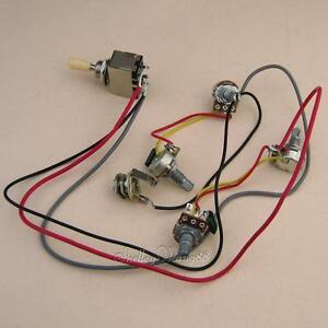 prewired 2v 2t 4 500k pots 3 way switch input jack wiring for gibson lp guitar ebay. Black Bedroom Furniture Sets. Home Design Ideas
