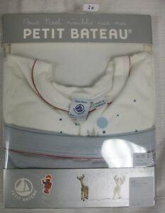 PETIT BATEAU Boy's LS Top & Briefs Set 78024 Sz 2 Years $46