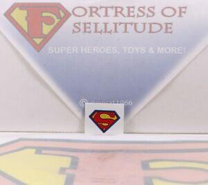 """emblem logo Superman UNCUT sticker Reproduction Mego 8/"""" Action Figure parts"""