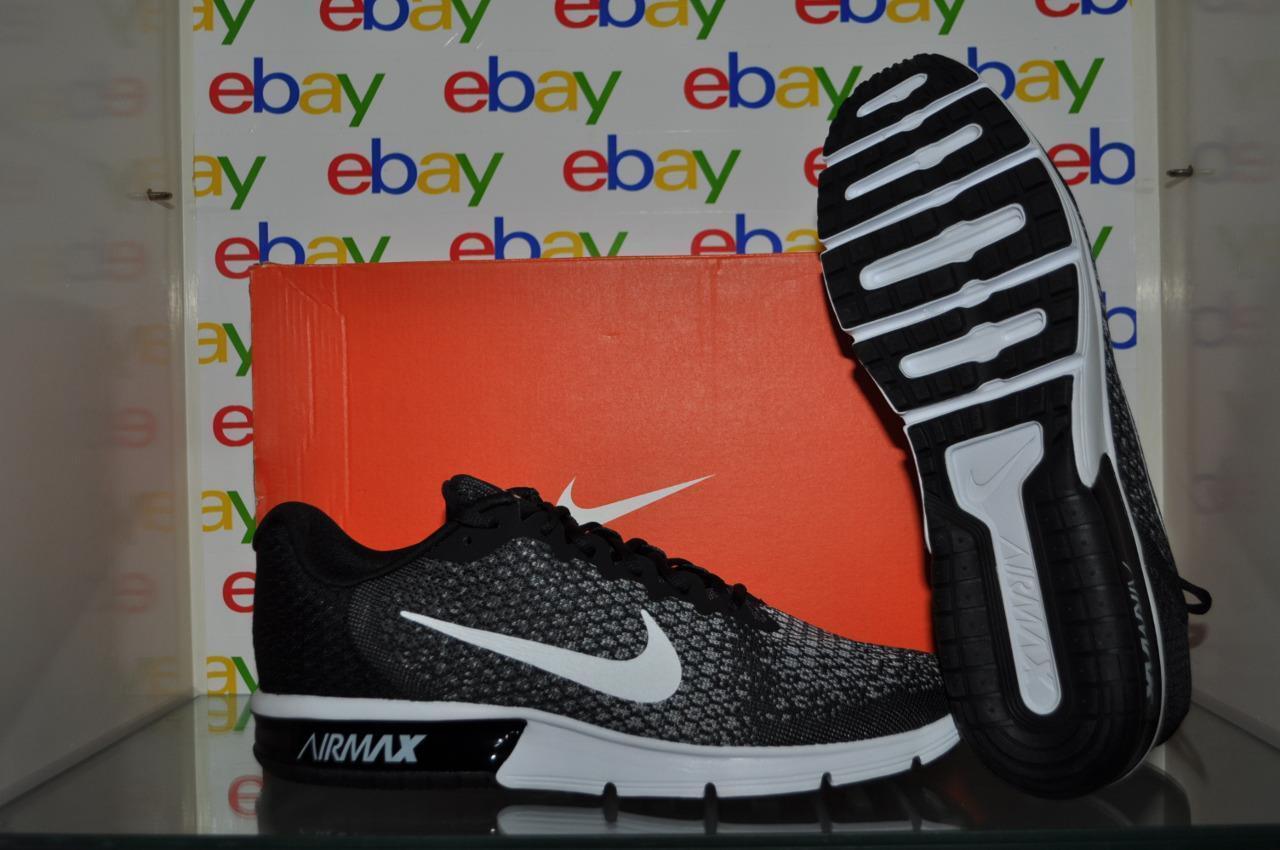 Nike Air Max Sequent 2 Mens Running Shoes Black/Gray NIB