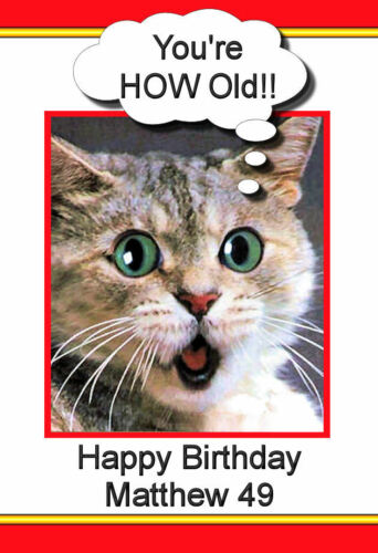 FUNNY CARD A5 Choice of Designs -  Personalised FREE P//P