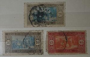 SENEGAL 1914 SG115116118 used stamps No010 - Braintree, Essex, United Kingdom - SENEGAL 1914 SG115116118 used stamps No010 - Braintree, Essex, United Kingdom