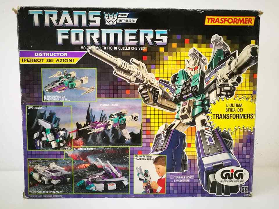 Transformers G1 Gig Distructor Iperbot Sei Azioni 1986 Hasbro Takara Made Japan