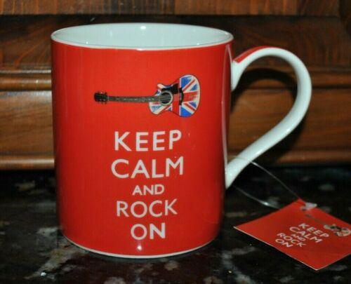 NEW KENT POTTERY Mug KEEP CALM and ROCK ON RED