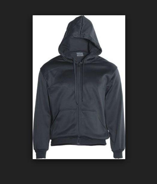 Bocini Adult Unisex Black Zip through Fleece Hoodie szS BNWOT (32)