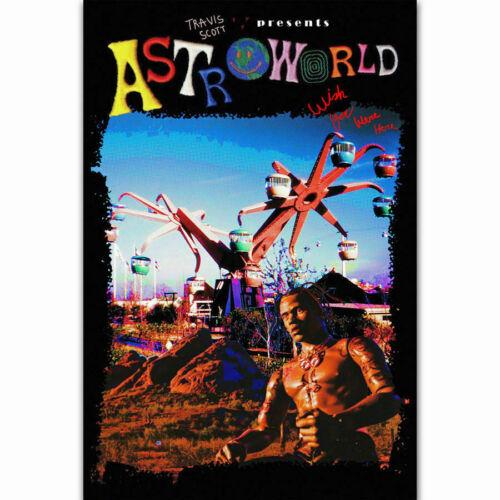 N738 Travis Scott Astroworld Rap Music Singer Star Silk Poster 20x30 24x36/'/'
