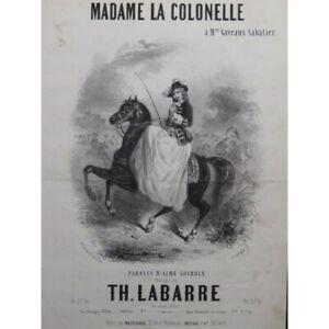 FäHig Labarre Theodore Madame Oberst Chant Piano Ca1840 Partitur Sheet Music Sc Klar Und Unverwechselbar Musikinstrumente