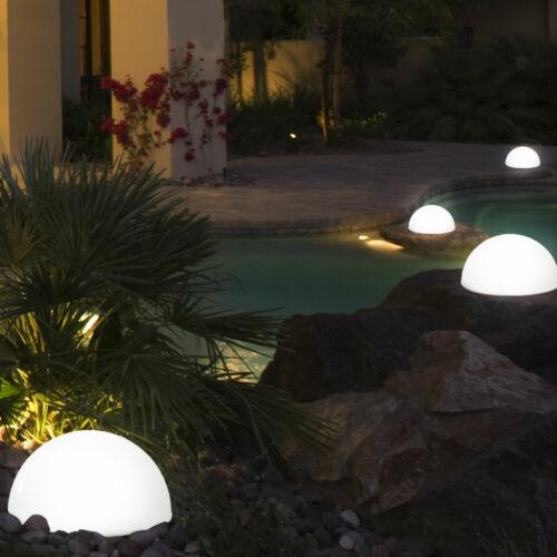 Solaire Extérieur Jardin Lampe Sol 4x DEL Mur Hémisphère Cour Chemin Lampe Terrasse