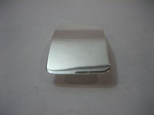 """Sterling Silver .51 G poli brillant engravible Boucle Pour 1-1//4/"""" ceinture sangle."""