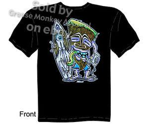 Pinstripe-Hodad-Tiki-T-shirt-Tiki-Shirt-Kustom-Kulture-Tee-Sz-M-L-XL-2XL-3XL