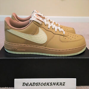 Nike AIR FORCE ONE 1 07 LV8 Elemental Gold Light Cream (823511 703) Mens Size 8