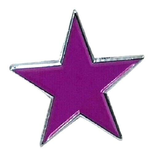 Purple Star Badge Pin Enamel Army Military Merit Award Prize Winner Biker