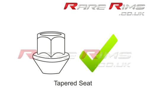 4x Chrome Locking Wheel Nuts M12x1.5 Fits Ford Focus RS ST Zetec  MK1 MK2 MK3