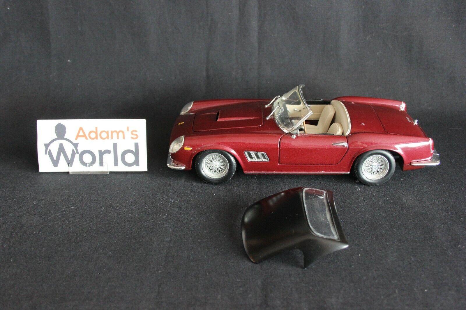Hot Wheels Ferrari 250 GT California Spider 1 18 dark rot + hard top (PJBB)