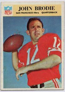 1966-Philadelphia-173-John-Brodie-EX-EX-Mark-San-Francisco-49ers-FREE-SHIPPING