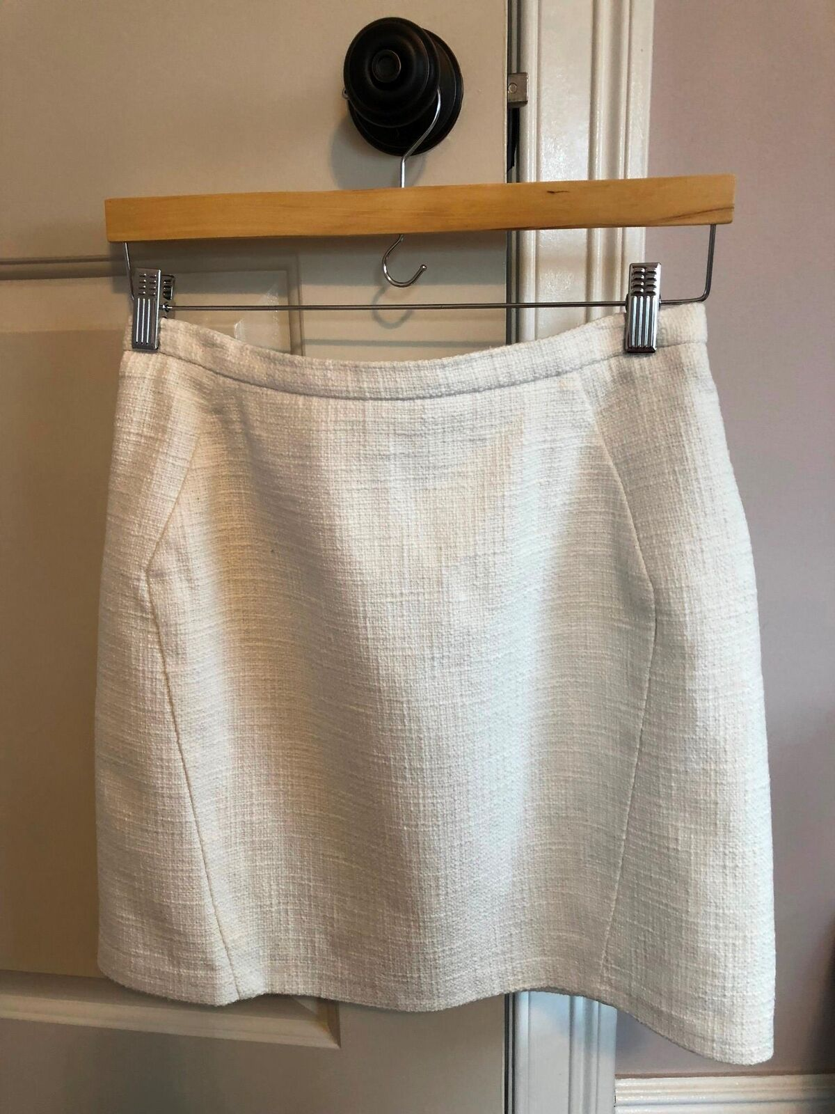 NWOT TOPSHOP White Mini Skirt SZ 8
