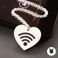 WiFi Love Halskette Internet Blogger Snapchat Nerd Geek Kette wlan Smartphone