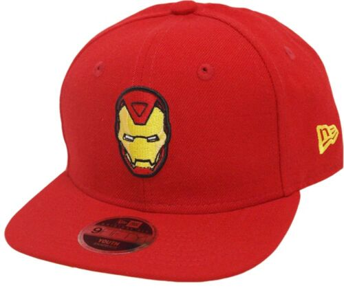 NEW Era Iron Man 9 FIFTY 950 Scarlet YELLOW UV Youth Snapback Cap Kids Bambini