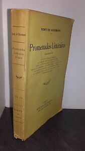Remy Di Parisedit Promenades Letterario 11è Edit. Mercure 1913 Parigi Be /