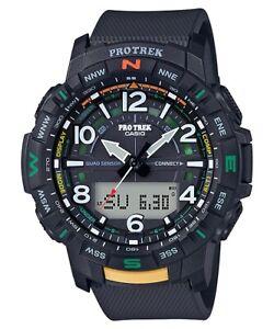Casio-Pro-Trek-PRTB50-1-Quad-Sensor-Bluetooth-Smartlink-Black-Resin-Watch-Men