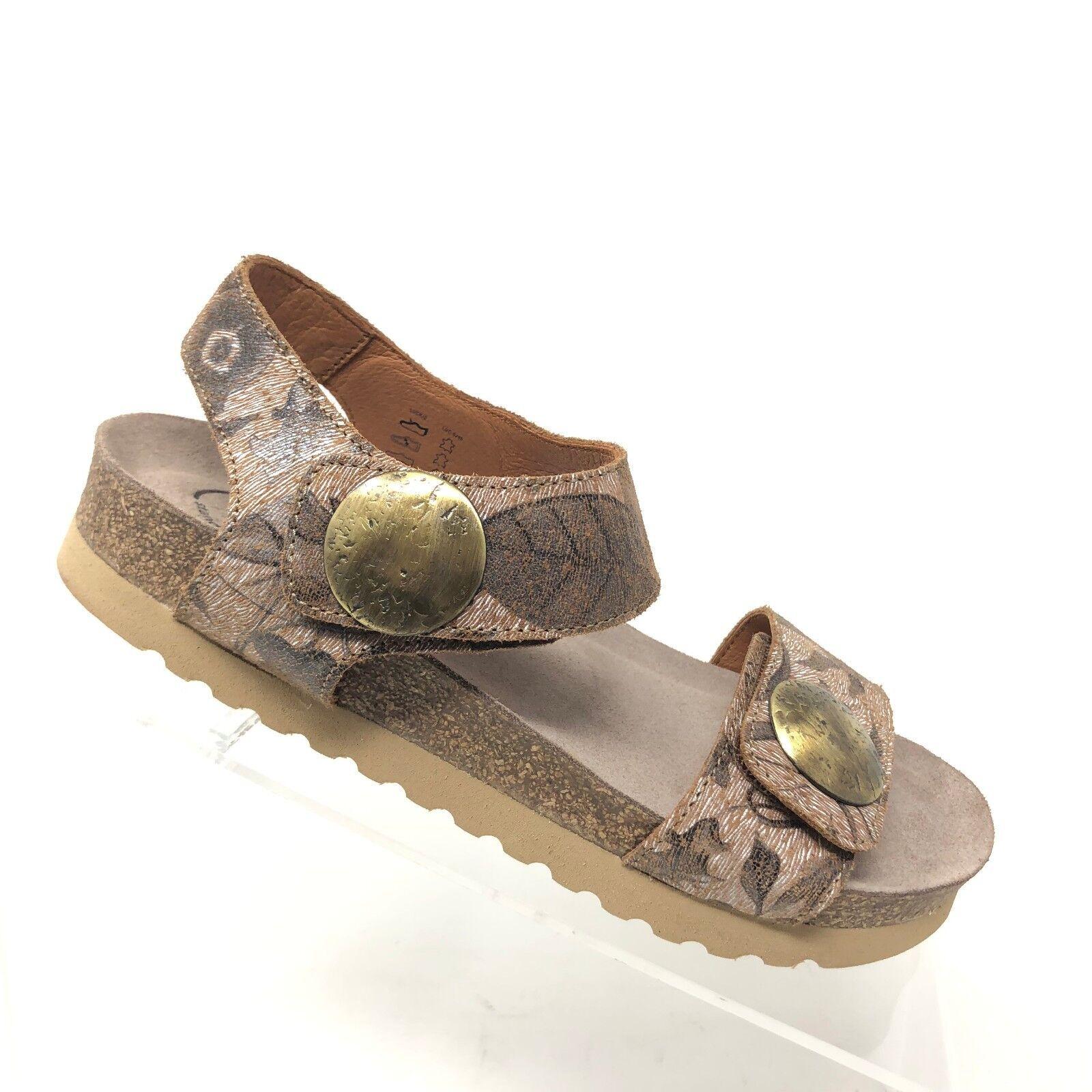 Taos Luckie Sandale En Cuir Marron Clair Floral la Semelle Intérieure Chaussure Femme Taille 36 5 - 5.5