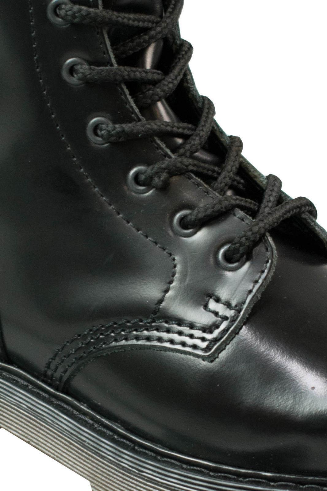 Alpha London 8-loch Boot 4430 Ohne Ohne Ohne Stahlkappe Beige Sohle / Schwarze Naht #5055 69acc4