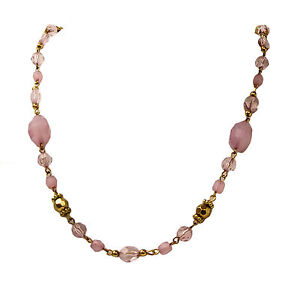 New-single-Strand-Oriental-Pink-18-034-beaded-style-fashion-Women-039-s-Necklace