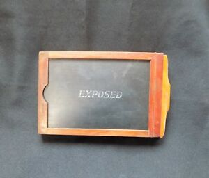 Image is loading Vintage-Wood-Film-Plate-Holder-Old-Photography-Early- & Vintage Wood Film Plate Holder Old Photography Early 1900u0027s Exposed ...