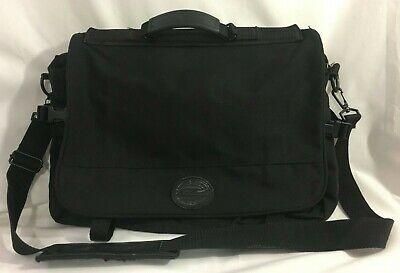 Ed Bauer Black Computer Bag Messenger Laptop Nylon Briefcase Pockets Ebay