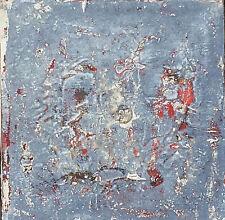 """JOAQUIM BOLÍBAR, Acrílico y técnica mixta, s/tabla, 20 x 20 cm. """"Roig"""""""