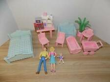 Vinage Playskool Dollhouse Replacement Pieces Furniture Lot