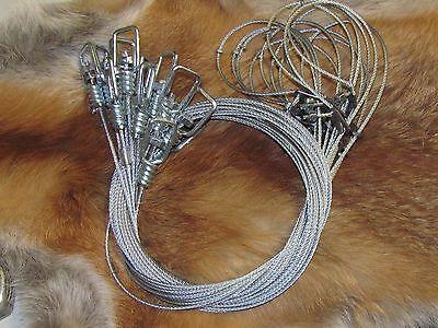 """1 dozen 60"""" 3/32  Slim Lock Raccoon,fox,coyote,bobcat  Snares (1 Dz.) NEW SALE"""