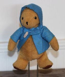 Vintage-PADDINGTON-BEAR-1975-EDEN-Plush-Stuffed-Animal-Bean-Bag-Blue-Jacket-9-034