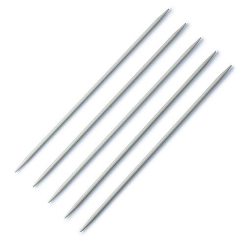 Prym strumpfstricknadel aguja juego 15cm calcetines truco agujas aluminio gris todos...